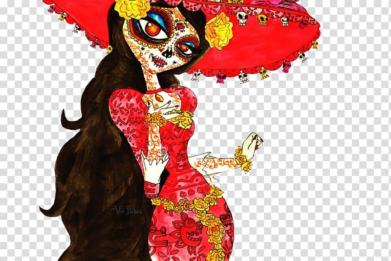 La Calavera Catrina Death Book Character, book PNG