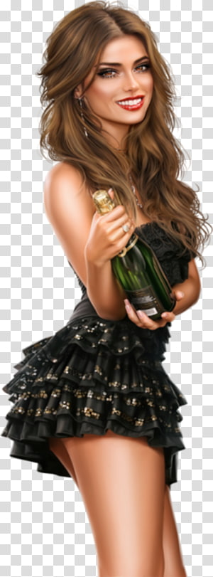 Woman Fashion Christmas Day Champagne Portable Network Graphics, woman PNG