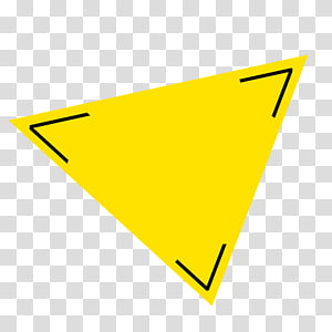 Yellow Triangle, triangle PNG clipart