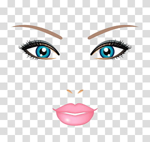 Face illustration Illustration, Hand-painted face makeup beauty creative PNG