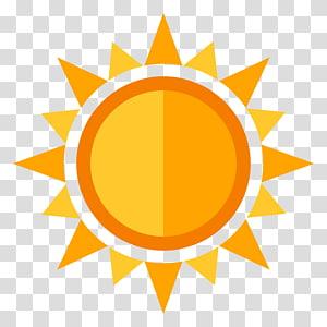 Computer Icons , orange sun PNG clipart