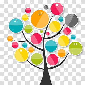 black and multicolored tree , Element Chart Euclidean , ppt element PNG clipart