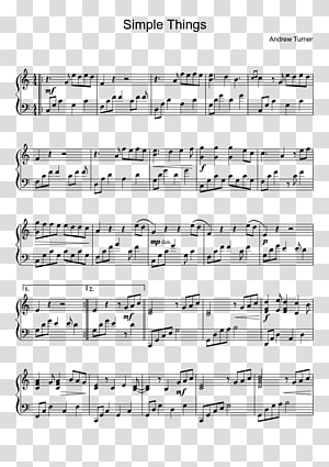 Sheet Music Plus Piano Star Wars, music score PNG clipart