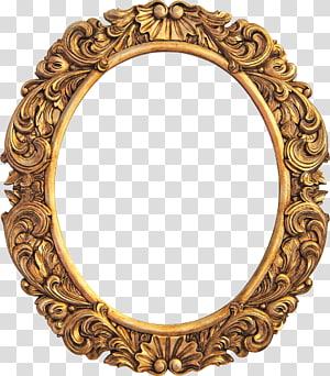oval brown floral mirror frame illustration, Frames Gilding Decorative arts Wall decal, mirror PNG clipart