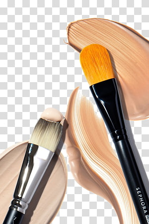 black makeup brush illustration, Makeup brush Cosmetics Rouge, Paste traces PNG clipart