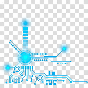 blue electric illustration, Technology Pattern, Decorative pattern of science and technology PNG