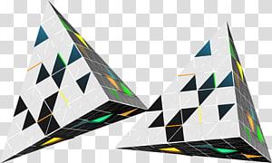 Triangle Three-dimensional space Euclidean , Three-dimensional triangle PNG