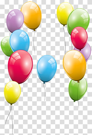 assorted-color balloon lot illustration, Balloon Birthday Party , Large Balloons PNG clipart