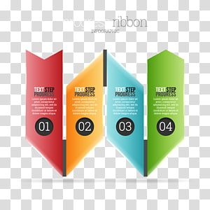Infographic Ribbon Chart Graphic design, PPT arrow PNG clipart