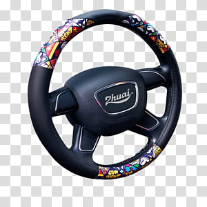 Steering wheel Diamond Rome Alloy wheel, Automotive leather steering wheel PNG