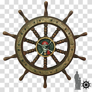 Ship\'s wheel Steering wheel Rudder, pirate ship PNG