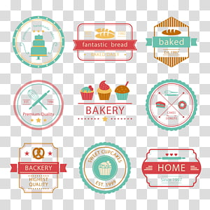 several assorted-color logo collage, Bakery Logo Baking, cake LOGO PNG clipart