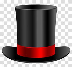 black and red top hat illustrationm, Top hat illustration , Top Hat PNG