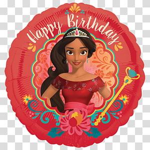 Elena of Avalor Birthday Mylar balloon Party, Birthday PNG clipart