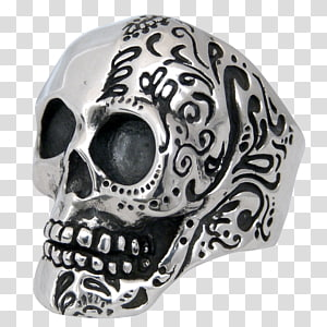 Skull Silver Headgear, Rose for stamp tshirts PNG clipart