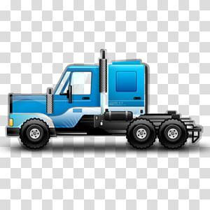 blue truck illustration, cargo automotive exterior model car, Work Star blue PNG clipart