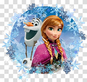 Olaf and Ana illustration, Anna Elsa Frozen Kristoff Olaf, anna PNG clipart