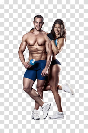 sports fitness men and women PNG