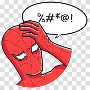 Telegram Sticker LINE Meme , spiderman meme PNG clipart