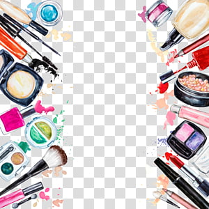 Cosmetics Beauty Eye shadow Lipstick frame, Creative Makeup Tools, assorted-brand cosmetic makeup lot PNG clipart