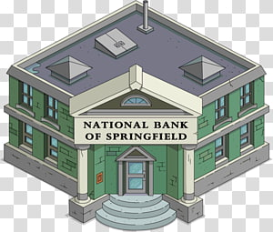 The Simpsons: Tapped Out National bank Springfield Marge Simpson, bank PNG