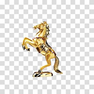 Horse , Gold Horse PNG