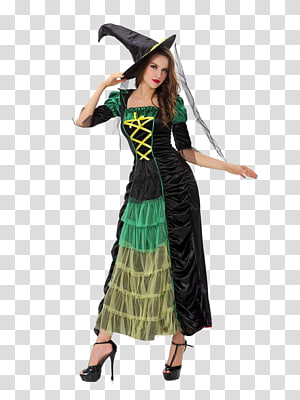 Halloween costume witch Clothing, witch PNG clipart