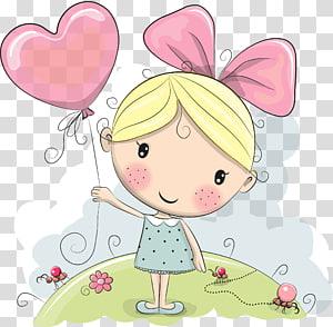 yellow haired girl cartoon character, Cartoon Drawing Illustration, Girl PNG
