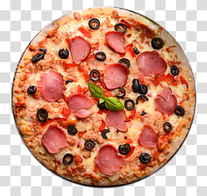 Pizza Italian cuisine European cuisine Ham Fast food, Pizza PNG clipart