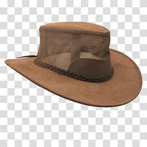 Cowboy hat Bendigo Leather Mesh, sun hat PNG clipart