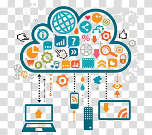 Managed services Management Cloud computing Cloud storage Data, cloud computing PNG