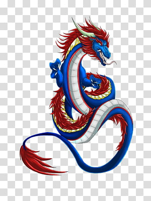 blue and red dragon illustration, Chinese dragon , Chinese Dragon PNG clipart
