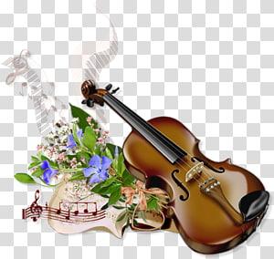 Visual arts Music Fxeate de la Musique Violin , Flowers bring violin PNG
