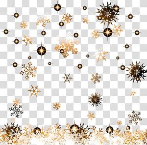 golden snowflake pattern PNG