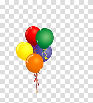 Hot air balloon Party , Color balloons floating PNG