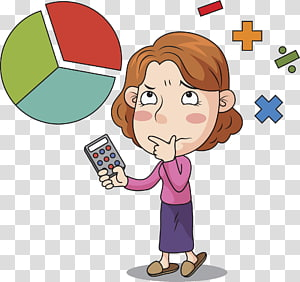 calculating woman PNG clipart