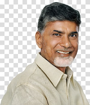 smiling man wearing brown dress shirt, N. Chandrababu Naidu Chief Minister Amaravati Telugu Desam Party National Democratic Alliance, andhrapradesh PNG