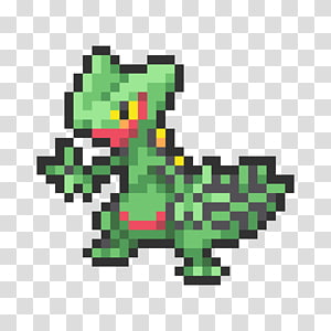 Sceptile Pixel art Pokémon Omega Ruby and Alpha Sapphire Sprite, pokemon PNG