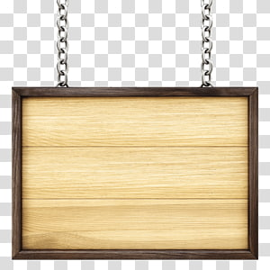brown wooden frame , Paper Wood Advertising Label, Wooden tag PNG