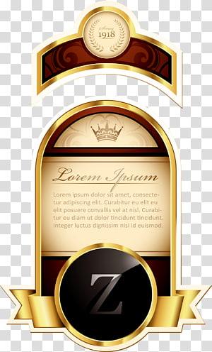 Lorem Ipsum bottle sticker , Paper Label Euclidean , Hand-painted wine labels PNG clipart