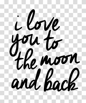 Sticker Moon Love Happiness, i love you to the moon and back PNG clipart