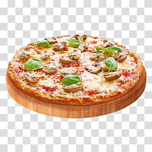 Pizza Fast food Take-out Italian cuisine Ham, Delicious Pizza PNG clipart