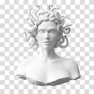 Foamo Medusa Gorgon City Sirens, greek bust PNG