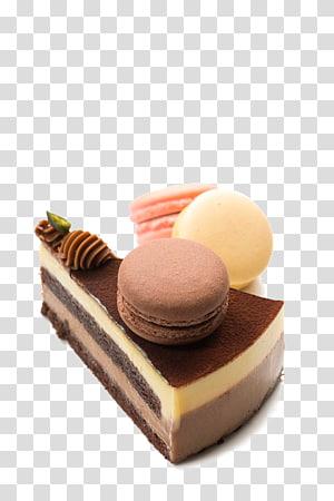 sliced black icing cake, Macaroon Macaron Chocolate cake Black Forest gateau, Macaron chocolate cake PNG