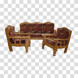 Table Couch Furniture Chair Wood, Wood Sofa PNG