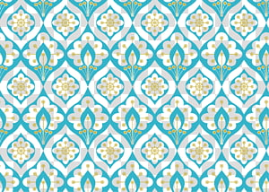 blue and yellow mandala wallpaer, Abstract factory pattern Pattern, Retro floral shading PNG clipart