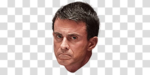 man's face, Manuel Valls Thinking PNG clipart