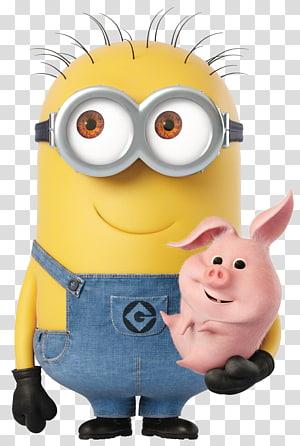 Minions Despicable Me: Minion Rush Balthazar Bratt Felonious Gru Kevin the Minion, Minion with Piggy Cartoon , Despicable Me Minion Dave illustration PNG clipart