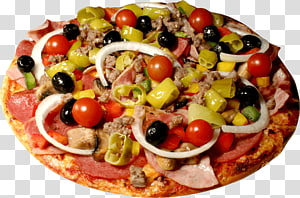 Hamburger Pizza Fast food Buffalo wing Italian cuisine, Pizza PNG clipart