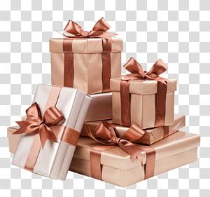 Decorative box Gift Ribbon Gold, Gift PNG
